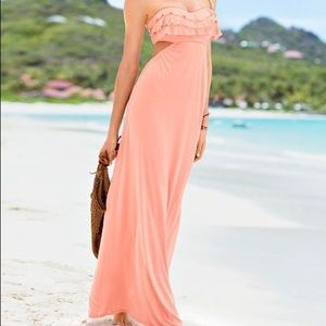 Victoria's Secret Ruffle Push-Up Maxi Dress
